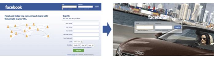 Personnaliser l'écran de connexion Facebook