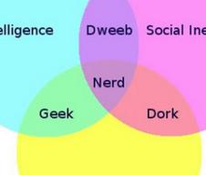 La différence entre geek, nerd et dork en une image