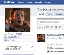 Si doctor who avait un profil facebook...