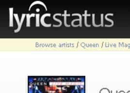 Utilisez facilement des lyrics pour vos statuts facebook