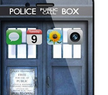 Une coque iphone Tardis
