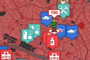 Google maps pour survivre à une attaque de zombies