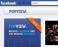 PinView - Votre timeline facebook, façon pinterest