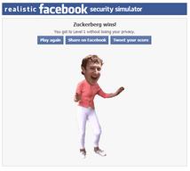Realistic Facebook Security Simulator:Saurez vous sécuriser votre compte Facebook à temps?