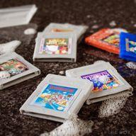 Du savon en forme de cartouches Game Boy