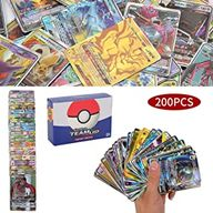 200Pcs Pokemon Cartes, Flash Cartes, Sun & Mood Series, Pokemon GX Cartes Trainer Cartes (62Tag Team GX + 132GX + 6Trainer)