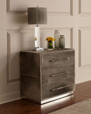 BERNHARDT Parkin Hairhide Night Stand