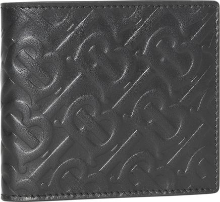 BURBERRY Monogram-Embossed Bifold Leather Wallet