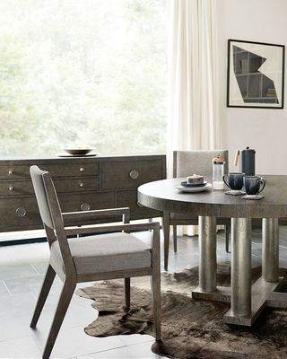 BERNHARDT Linea Four-Posted Round Dining Table