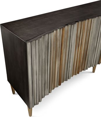 HOOKER FURNITURE Aluminum Wrapped Entertainment Console