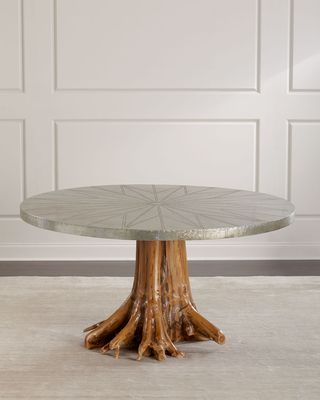 NEIMAN MARCUS Sorrell Teak Root Dining Table