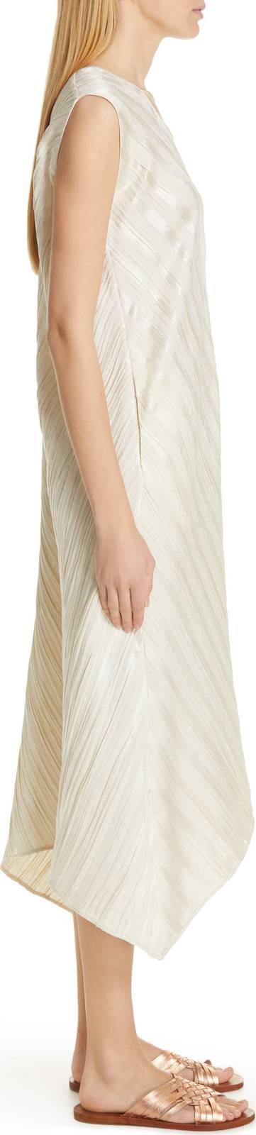 ZERO + MARIA CORNEJO Foulard Plisse Linen & Silk Dress