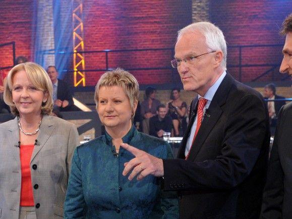 Die Runde der Spitzenkandidaten - wer hat am Sonntag die Nase vorn? /© Henning Kaiser (ddp)