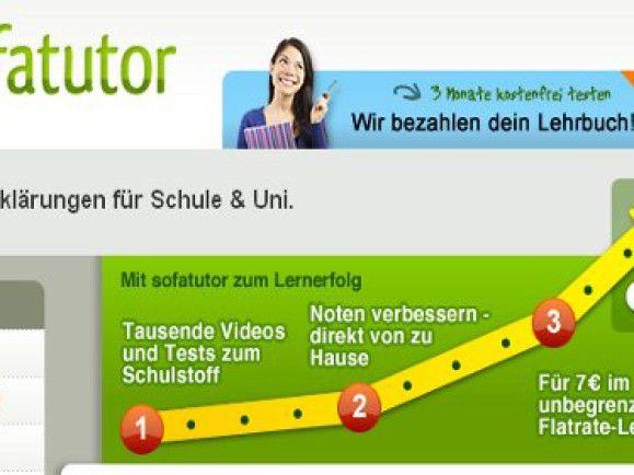 Die Startseite der Website sofatutor.com. Quelle: sofatutor.com