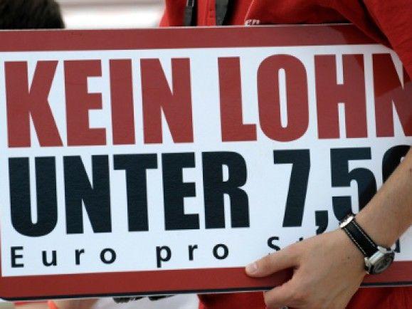 Eigentlich eher eine SPD-Forderung: Der gesetzliche Mindestlohn. Foto: © Jens Schlueter / dapd