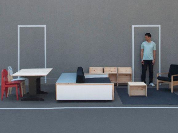 Die erste Hartz 4-Wohnung mit Mobiliar made by Van Bo Le-Mentzel. /Foto: © hatjecantz.de