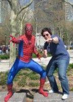 und ihr Kumpel Spiderman.