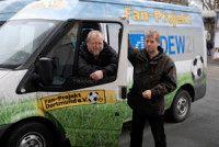 Rolf-Arnd Marewski (links) ist Mitarbeiter des Fanprojekt Dortmund.