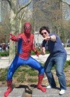Spiderman trifft Kinoredakteurin.