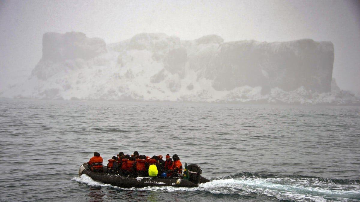Forscher in der Antarktis