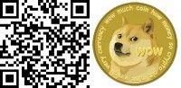 Dogecoin QR-Code mit Bild