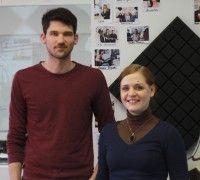 Franziska Pittner und Felix Heidrich sind zwei der OrganisatorInnen des diesjährigen Klanggut Festivals. Foto: detektor.fm