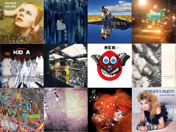 Von Bowie bis Cyndie Lauper - der Plattenkoffer von We Are The City. Collage: detektor.fm