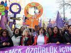 Protest für Frauenrechte in der Türkei