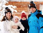 """Kate mit ihrer Happy Family? Nein - glaubt zumindest die """"Woche Heute"""". Foto: John Stillwell / POOL / AFP"""