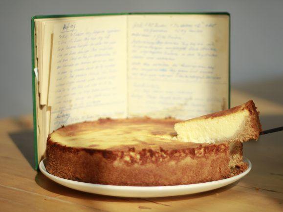 Ein Käsekuchen nach Muttis Rezept.