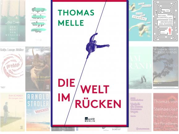 """Thomas Melle steht mit seinem Roman """"Die Welt im Rücken"""" auf der Longlist des Deutschen Buchpreises 2016."""