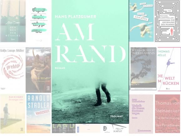 """Hans Platzgumer mit seinem Roman """"Am Rand"""""""