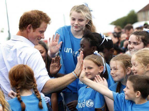 Prinz Harry in Aktion.