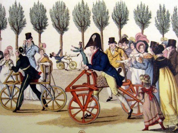 wikicommons-public-domain-velocipedes-jardin_de_luxembourg_1818-daderot-2400x1800