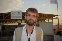 CARE Jordan project manager Marten Mylius in Azraq refugee camp. PHOTO: Anders Nordstoga/CARE 28.04.2014
