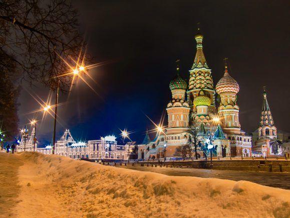 Moskau im Winter