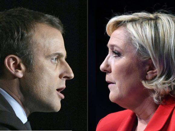 Macron und Le Pen und 100 Tage Trump