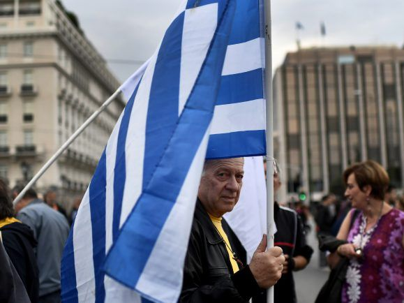Griechenland: Demonstrant in Athen