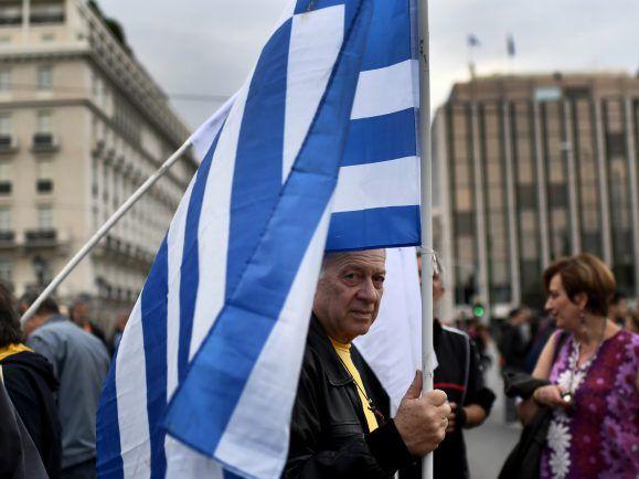 Griechenland: Demonstrant in Athen