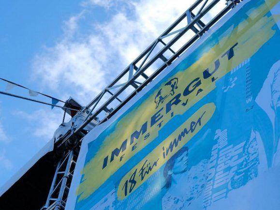 18 für immer - das Motto des diesjährigen Immergut-Festivals. Foto: Immergut