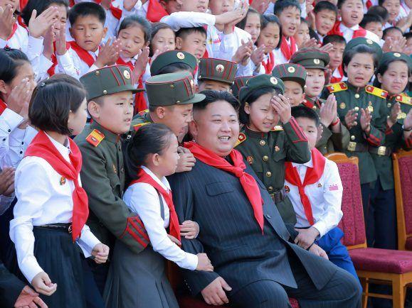 Nordkorea zeigt nur das, was sie auch zeigen wollen. Foto: STRINGER / KCNA VIA KNS / AFP
