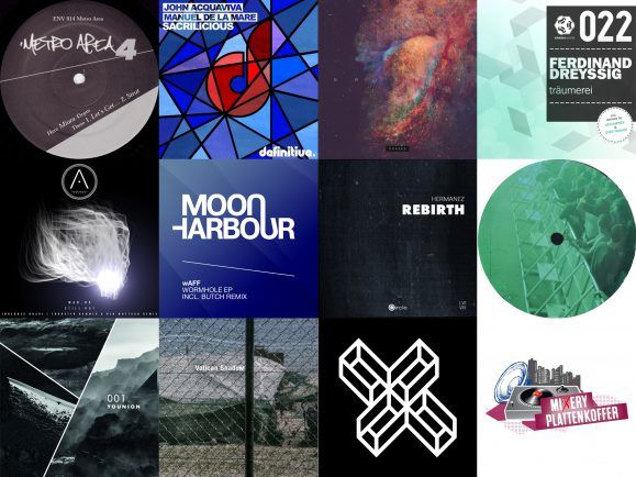 Elf Tracks hat Schlepp Geist für den MiXery-Plattenkoffer ausgewählt. Darunter House-Klassiker wie Metro Area und Radio Slave. Collage: detektor.fm