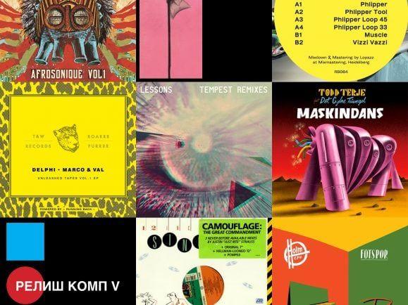 Von Camouflage über Lauer bis zu Todd Terje – Peter Invasion im MiXery-Plattenkoffer. Collage: detektor.fm