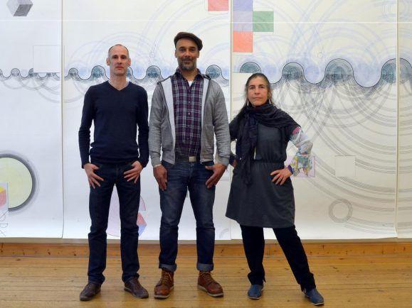 Bei Marino Schmidt in der Gallerie. Foto: Stefanie Schadow