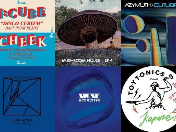 Daft Punk neben karibischen Klassikern und afrikanisch inspiriertem House – ein Teil von Munks Trackauswahl für den MiXery-Plattenkoffer. Collage: detektor.fm
