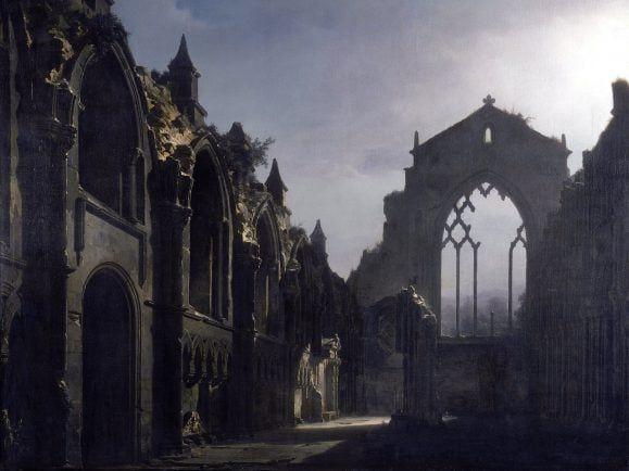 Die Ruinen von Holyrood Chapel - hier fand Mendelssohn Inspiration für seine schottische Sinfonie. Foto: THE RUINS OF HOLYROOD CHAPEL | CC BY 2.0 | Louis Jacques Daguerre/The Lost Gallery |flickr.com