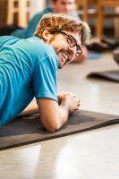 Jens Worg holt sich auf der Matte die Fitness für den Trail