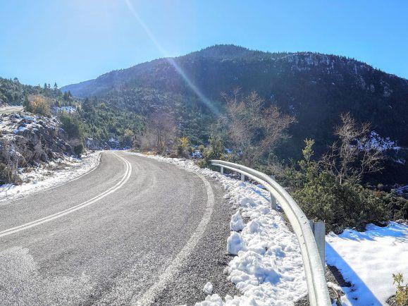 Rennrad in Griechenland