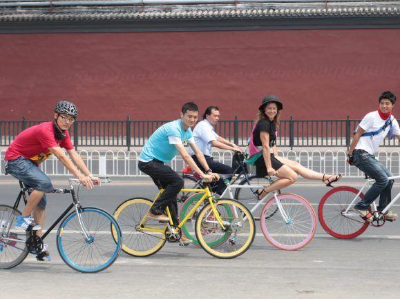 chinesische Fahrradkultur