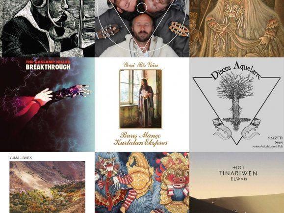 Traditionelle Weltmusik-Stücke und aktuellen Global-House vereint Rey & Kjavik in seinem Plattenkoffer-Set. Collage: detektor.fm
